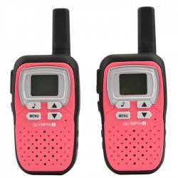 Olympia PMR1208R - Talkie Walkie 8 canaux portée jusqu'a 8 Km Rose sous Blister